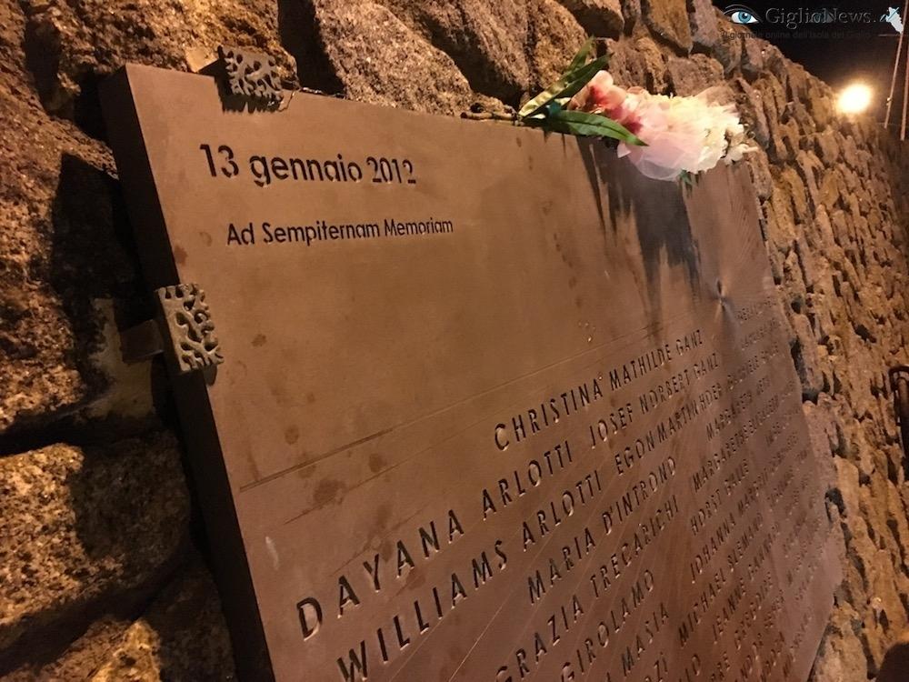 concordia anniversario lapide isola del giglio giglionews
