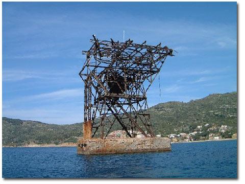 pilone traliccio miniera campese isola del giglio giglionews