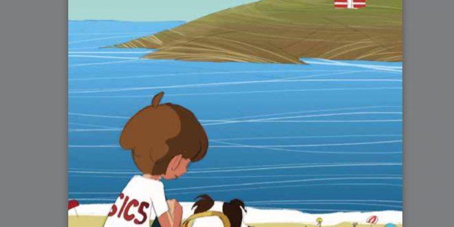 a quattro zampe nelle onde libro isola del giglio giglionews
