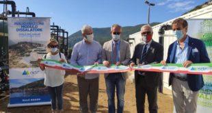 inaugurazione dissalatore acquedotto del fiora isola del giglio giglionews