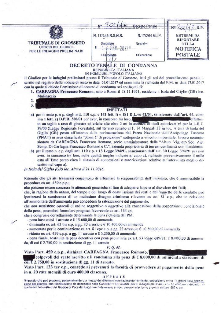 vignaiolo condannato isola del giglio giglionews