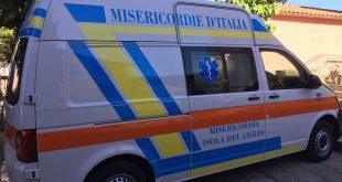 misericordia ambulanza 118 isola del giglio giglionews