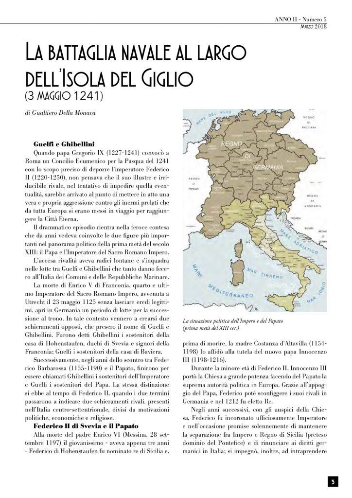 battaglia navale papa imperatore isola del giglio giglionews argentariana