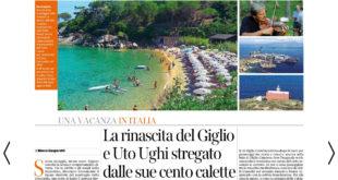 articolo corriere della sera turismo estate isola del giglio giglionews
