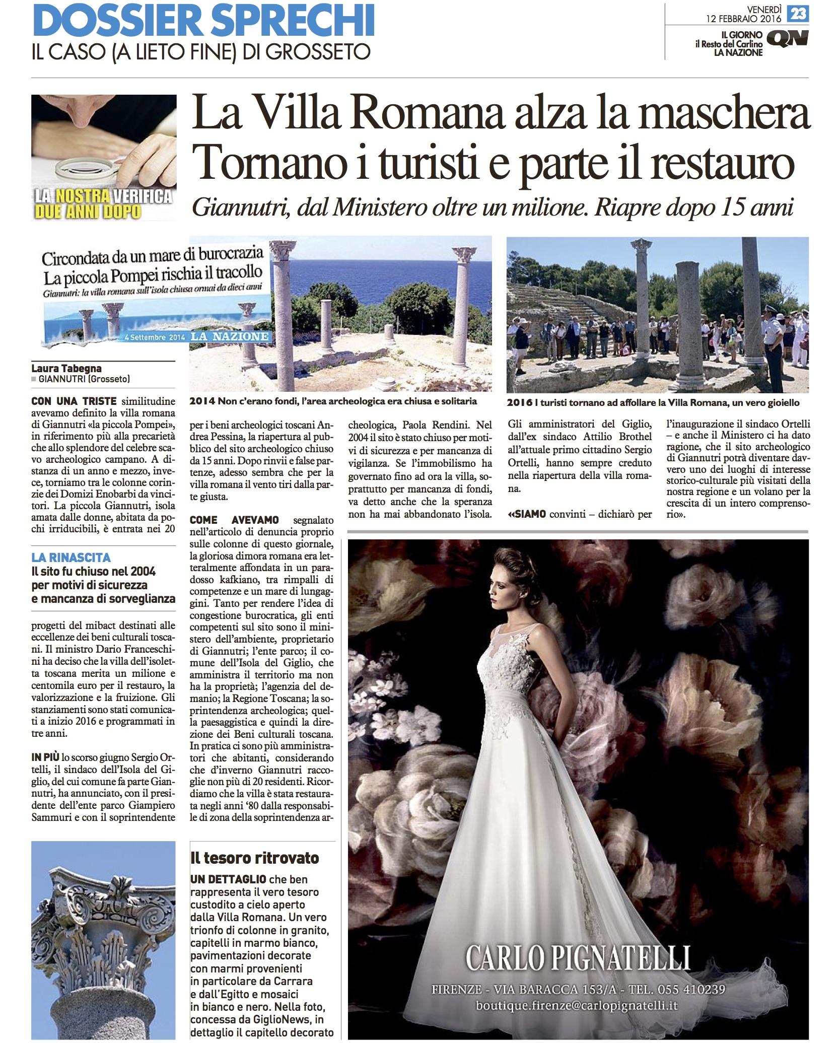 restauro villa romana giannutri laura tabegna isola del giglio giglionews