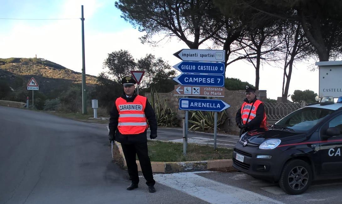 furto energia elettrica foglio di via domiciliari carabinieri fermo droga arresto arresti isola del giglio giglionews
