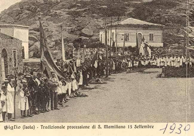 cartolina epoca mostra isola del giglio giglionews