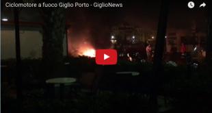ciclomotore fuoco incendio isola del giglio porto giglionews