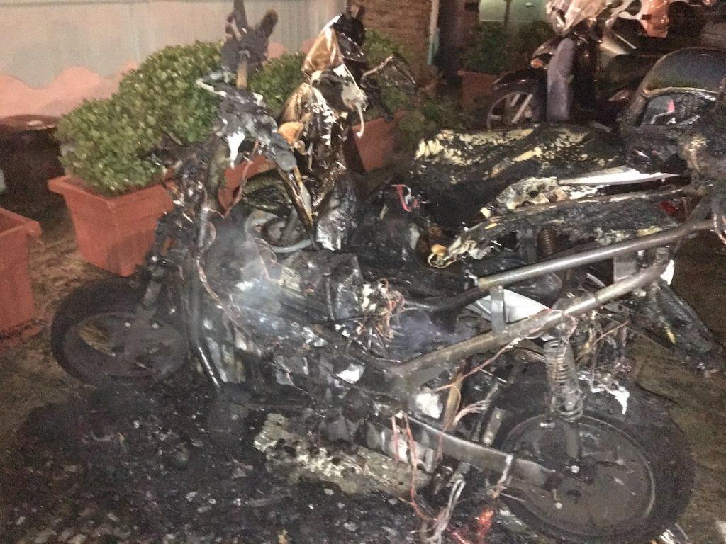 ciclomotore incendio isola del giglio giglionews