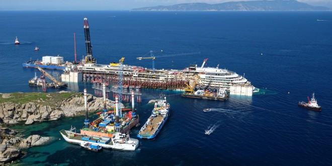 monitoraggio rimozione concordia isola del giglio giglionews osservatorio refloating