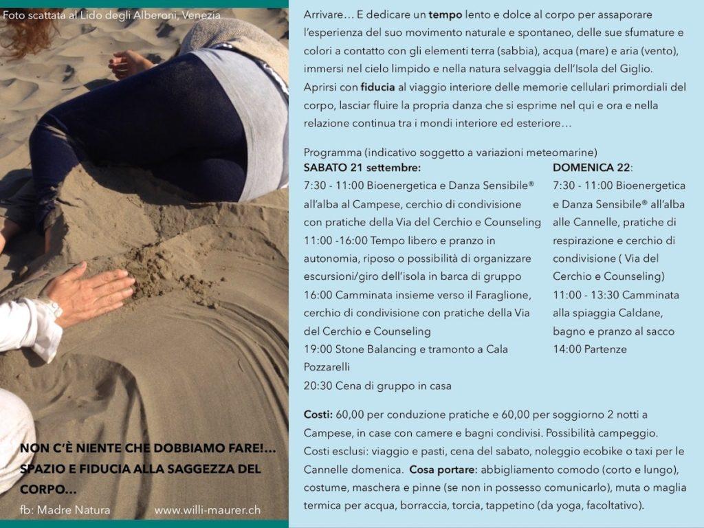 corpo sensibile isola del giglio giglionews