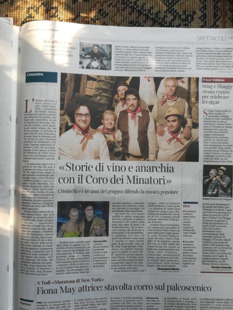 coro minatori santa fiora isola del giglio giglionews