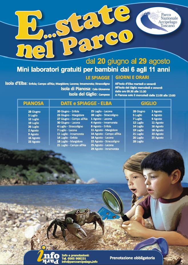 estate nel parco laboratori bambini isola del giglio giglionews