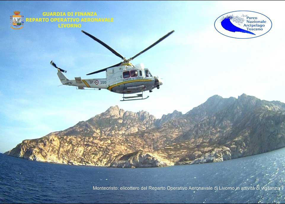 elicottero roan guardia di finanza parco arcipelago toscano isola del giglio giglionews
