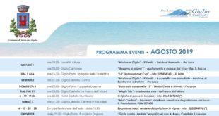 eventi agosto 2019 pro loco comune isola del giglio giglionews