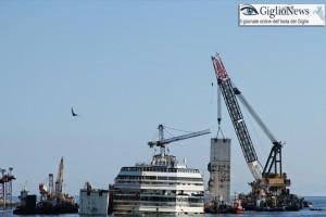 rimozione installazione cassoni concordia refloating isola del giglio giglionews