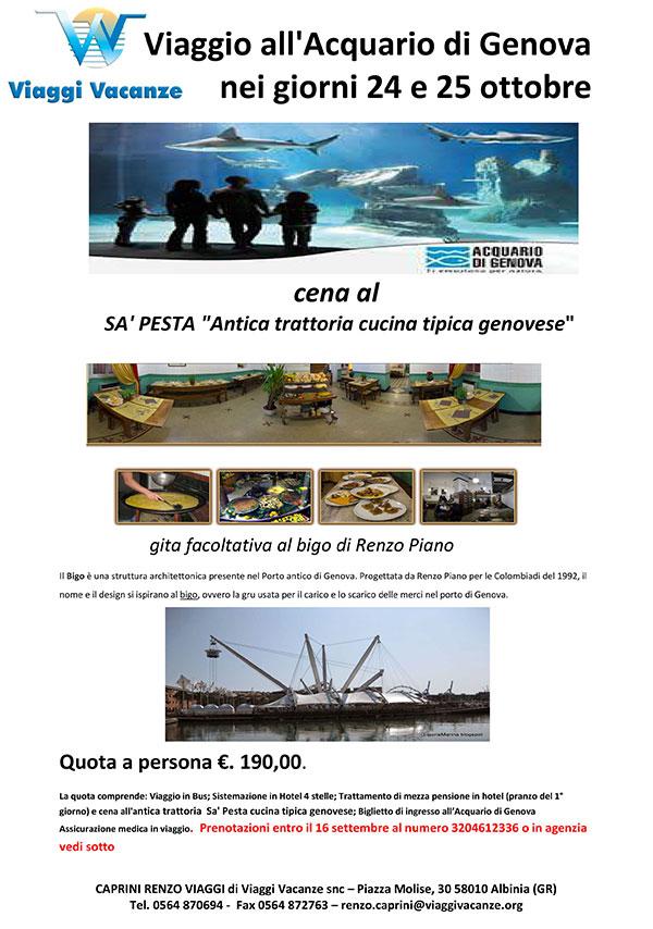viaggio acquario genova isola del giglio giglionews