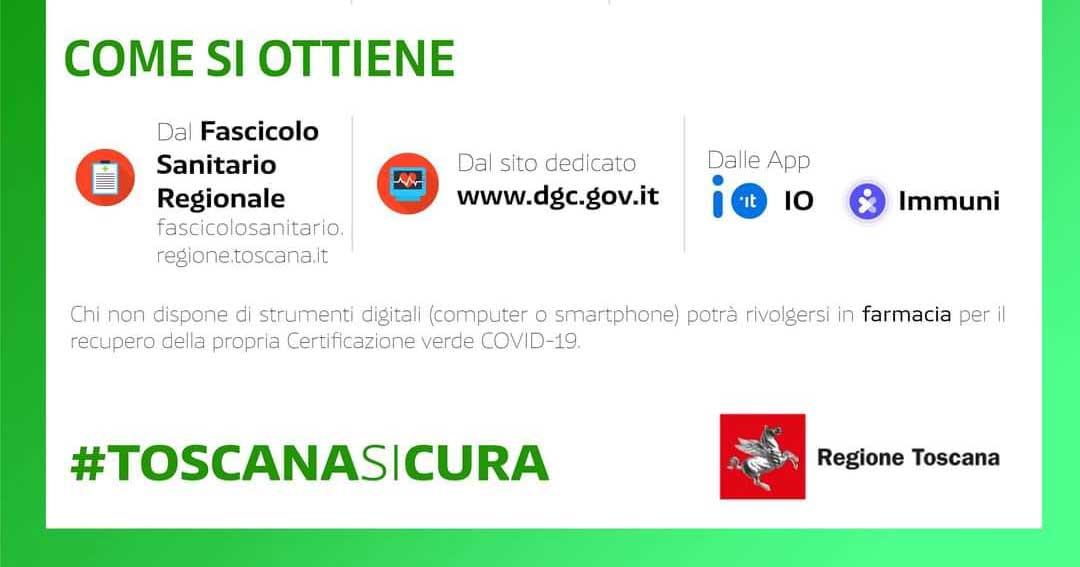 certificazione verde green pass regione toscana isola del giglio giglionews