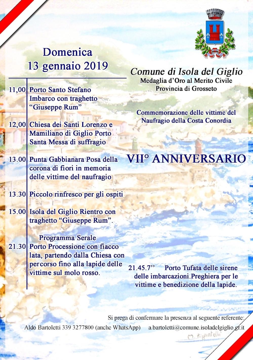 concordia anniversario naufragio isola del giglio giglionews