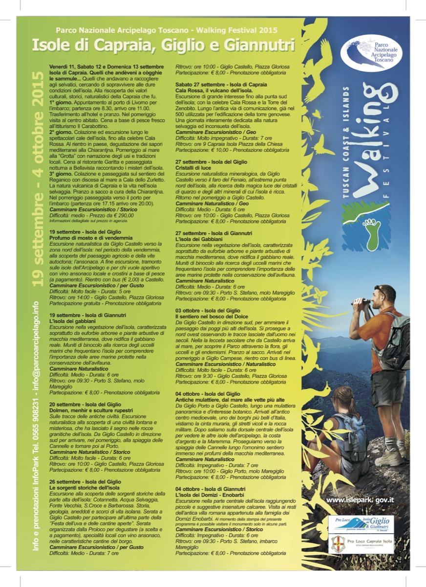 festival del camminare walking isola del giglio giglionews