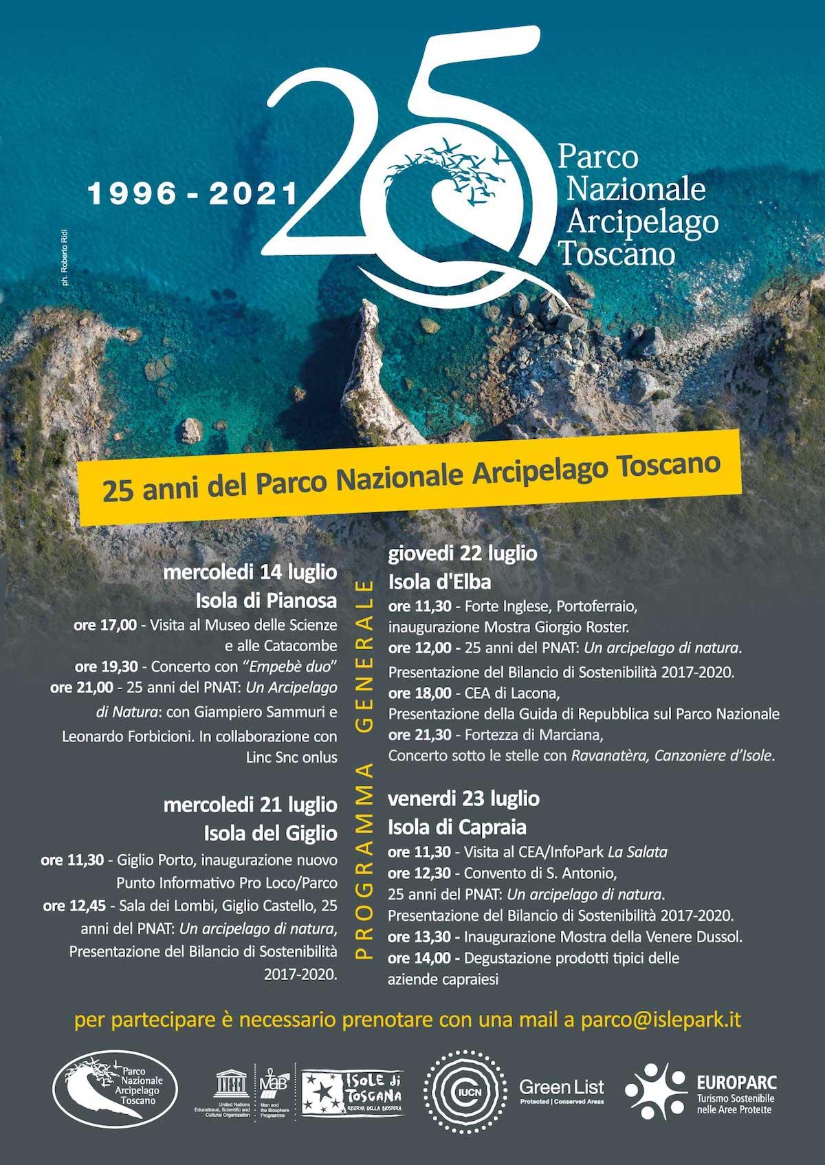 anniversario parco arcipelago toscano isola del giglio giglionews