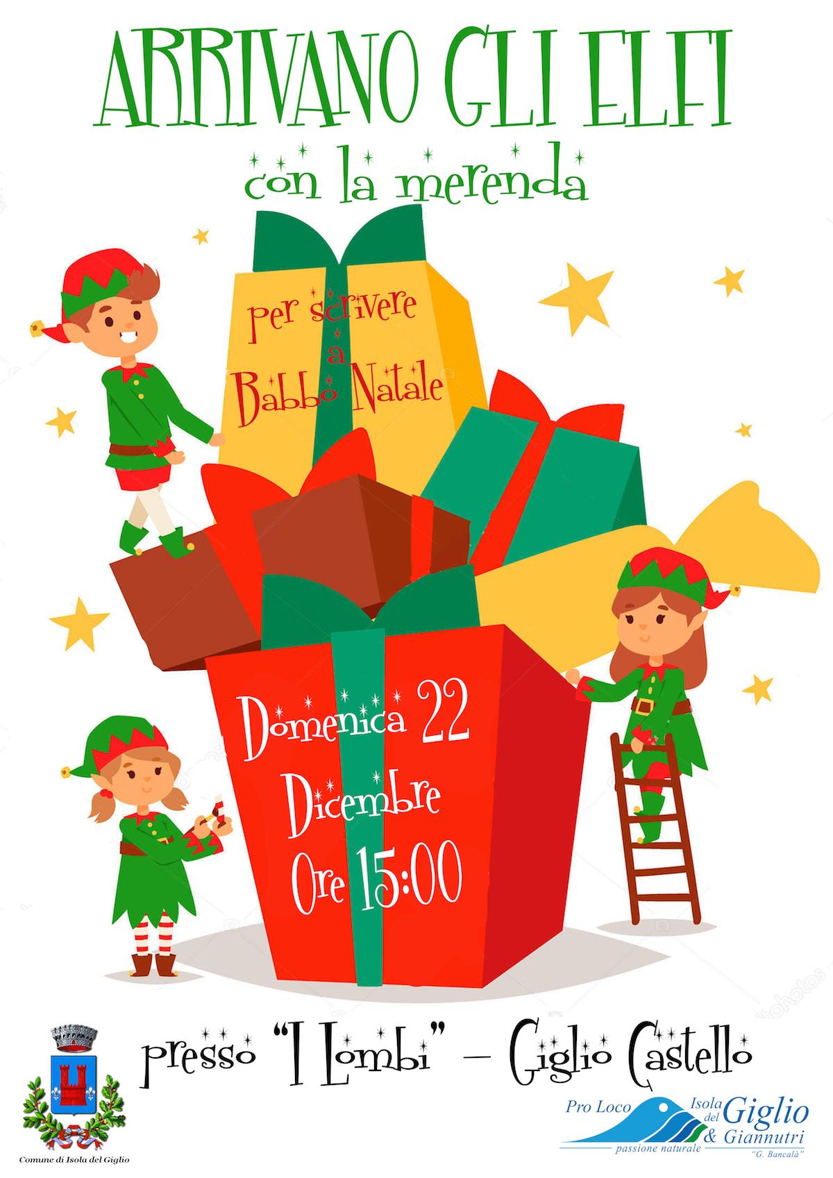 folletti elfi babbo natale isola del giglio giglionews