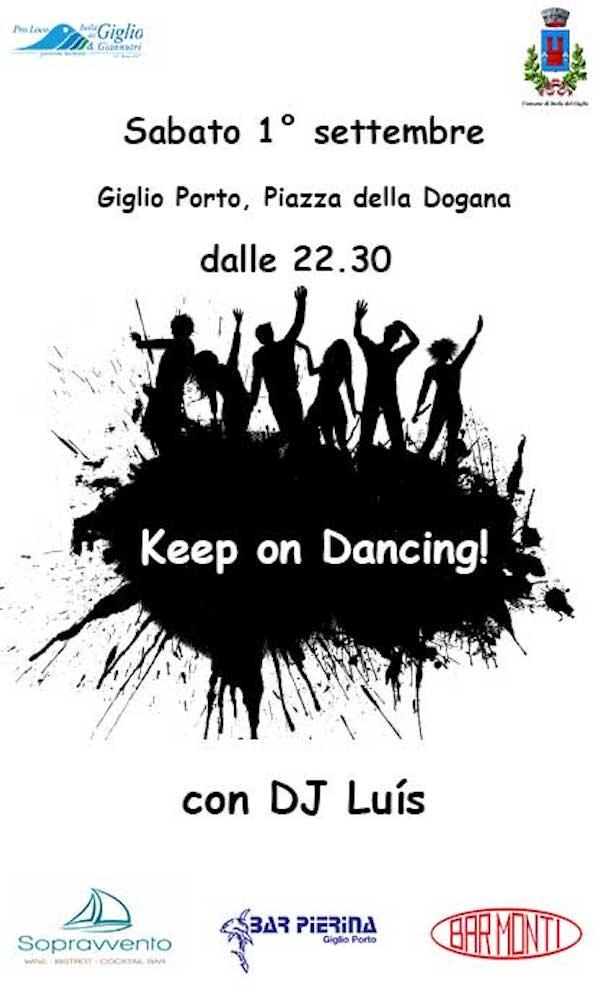 keep on dancing festa piazza isola del giglio giglionews