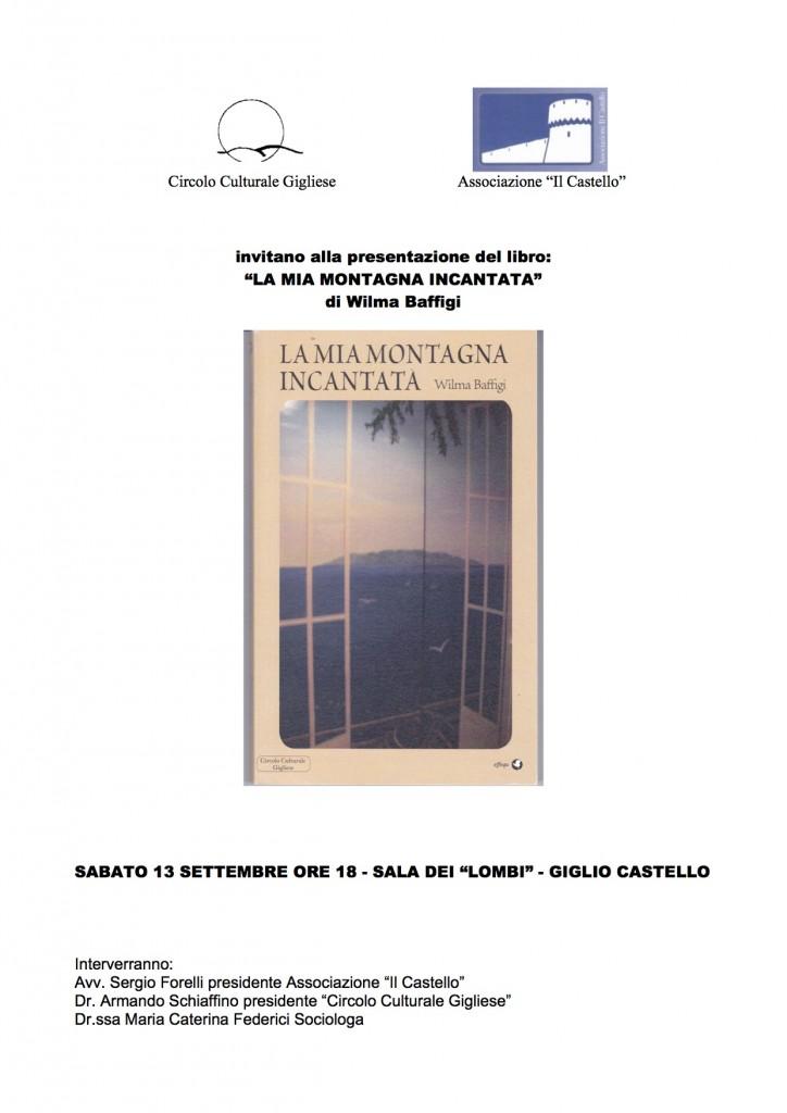 presentazione libro wilma baffigi isola del giglio giglionews