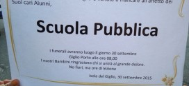 scuola pubblica funerale sciopero isola del giglio giglionews