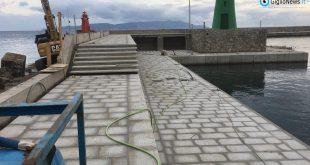 lavori molo verde isola del giglio giglionews