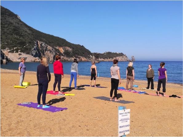pilates spiaggia isola del giglio campese giglionews