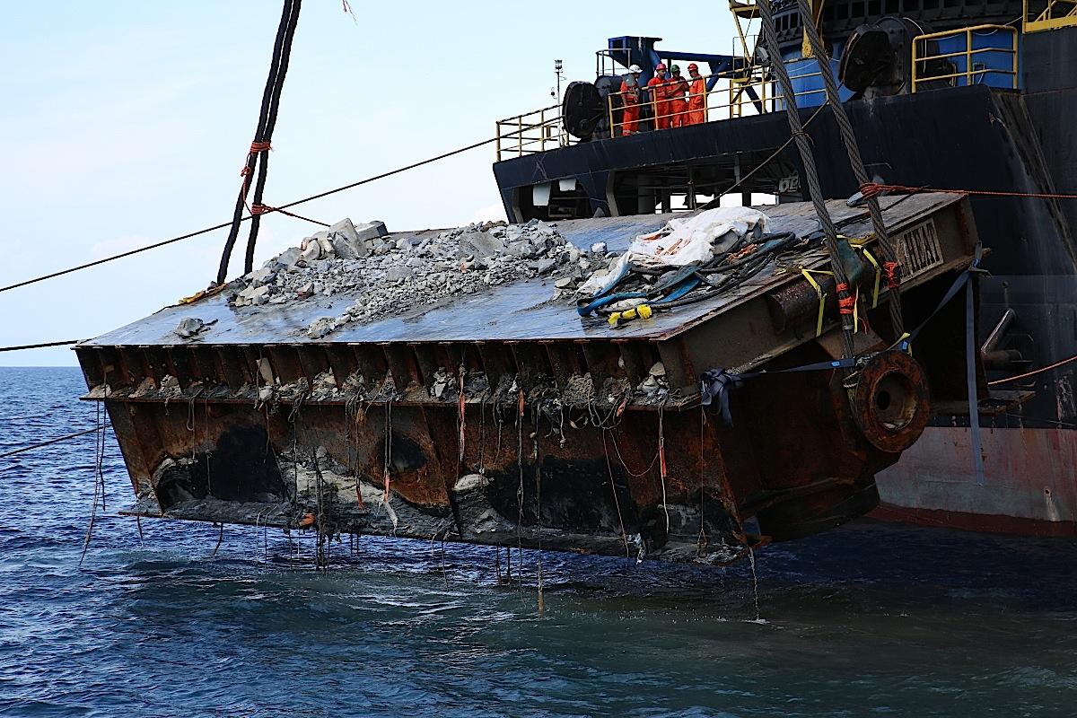 rimozione recupero piattaforme pulizia fondali micoperi isola del giglio giglionews