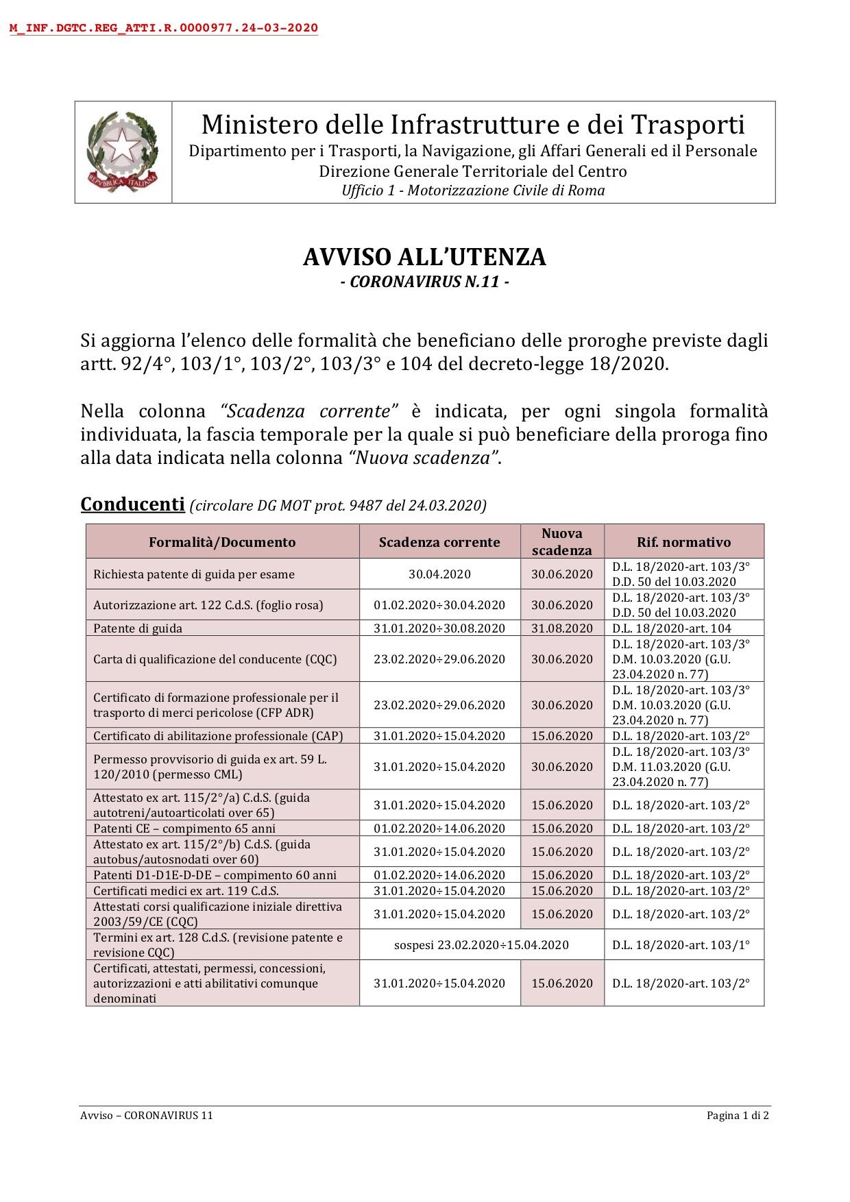 scadenze documenti isola del giglio giglionews