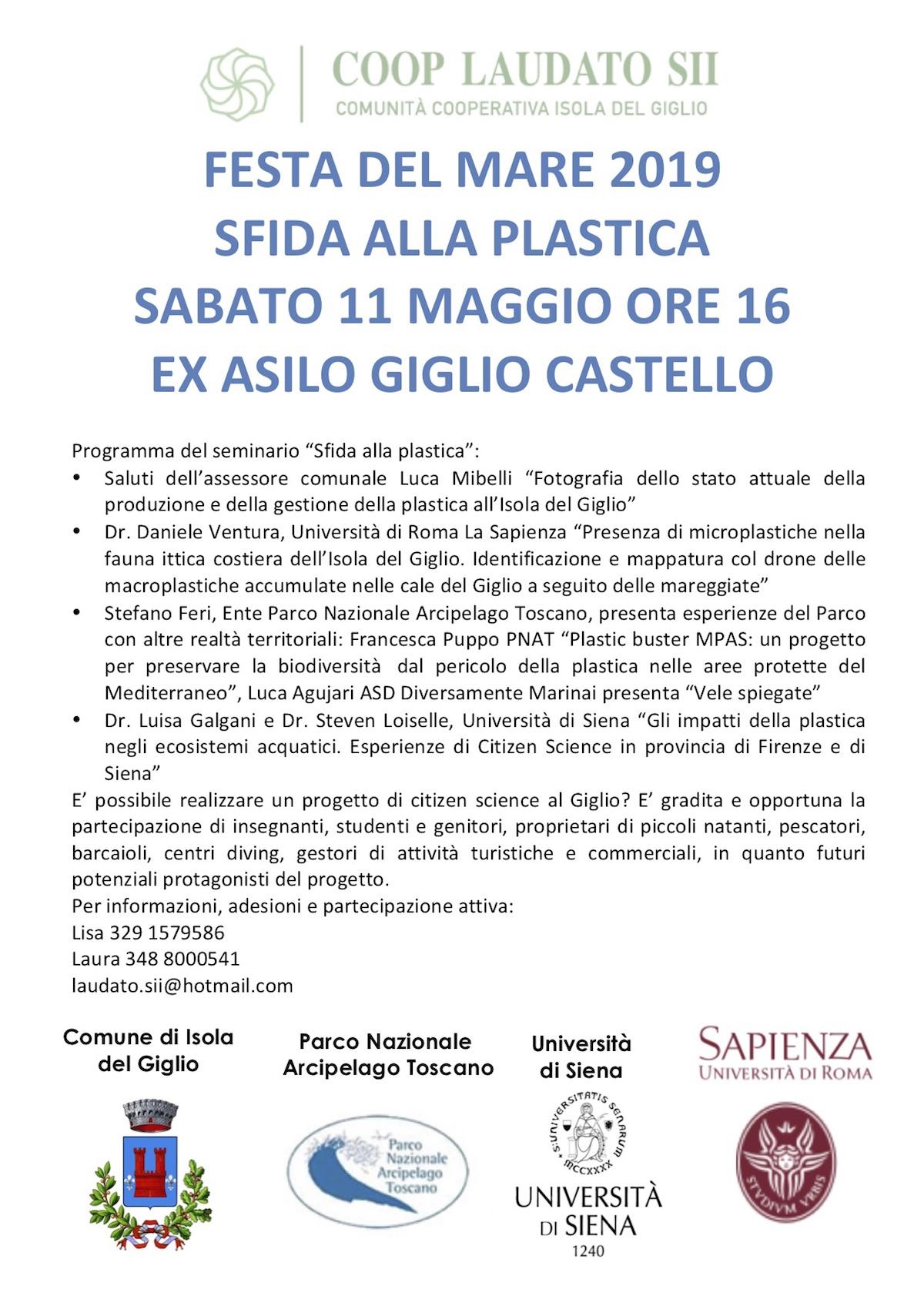 sfida plastica seminario isola del giglio giglionews