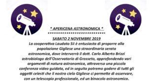 serata astronomica isola del giglio castello giglionews