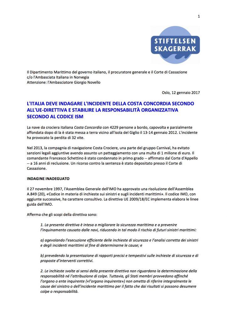 skagerrak foundation costa concordia isola del giglio giglionews