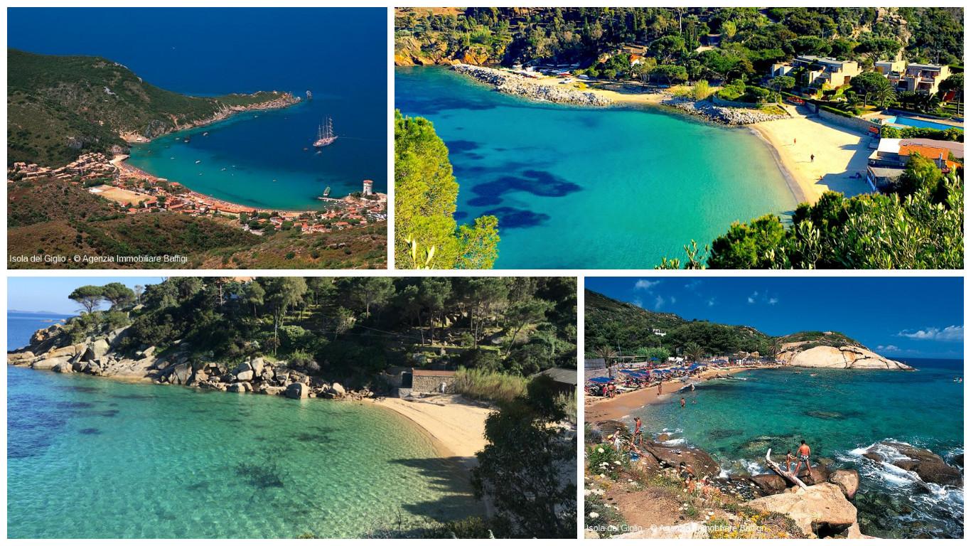 spiaggia spiagge isola del giglio giglionews cannelle caldane arenella campese