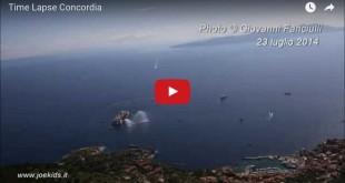 Concordia: time-lapse della partenza