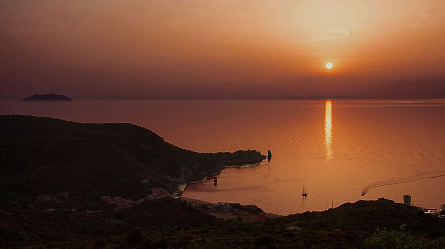 tramonto chi parte morte isola del giglio giglionews