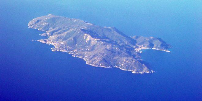 cartolina appunti veduta aerea vacanza isola del giglio giglionews