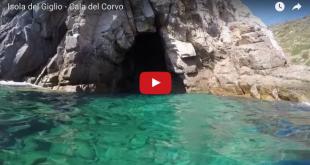 video grotta del corvo isola del giglio giglionews
